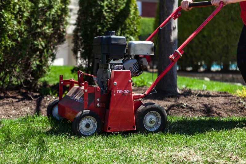 Lawn Aeration Service Albuquerque 01 - R & S Landscaping 505-271-8419